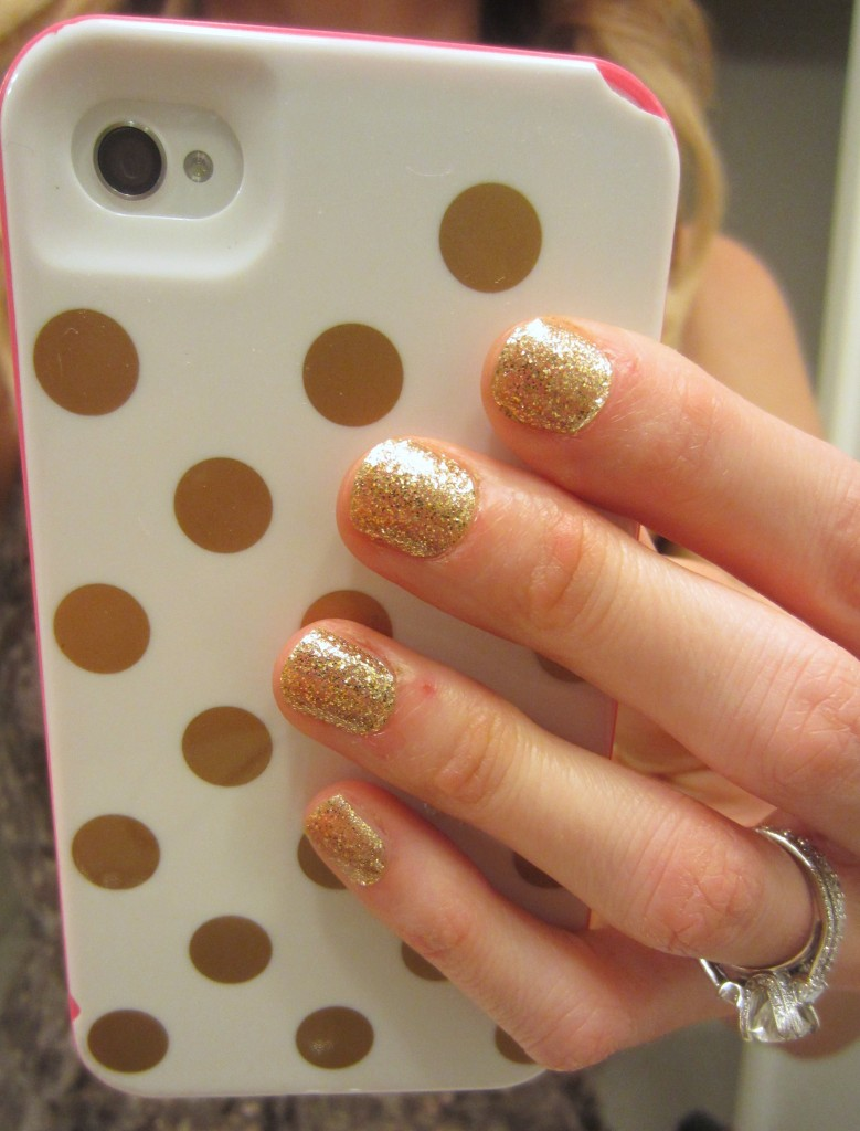 New Years 2012 Glitz Blitz Nails