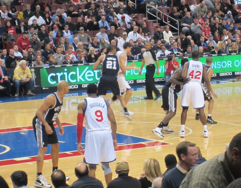 76ers Game players