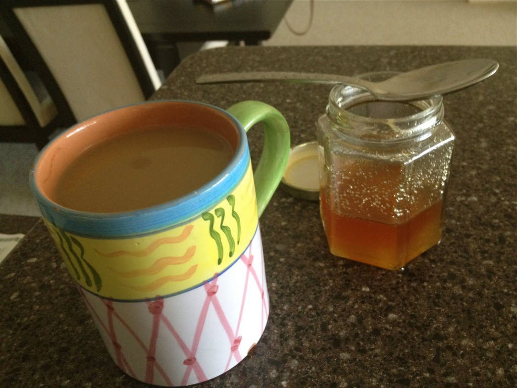 Morning Coffee and a side of all natural mango honey