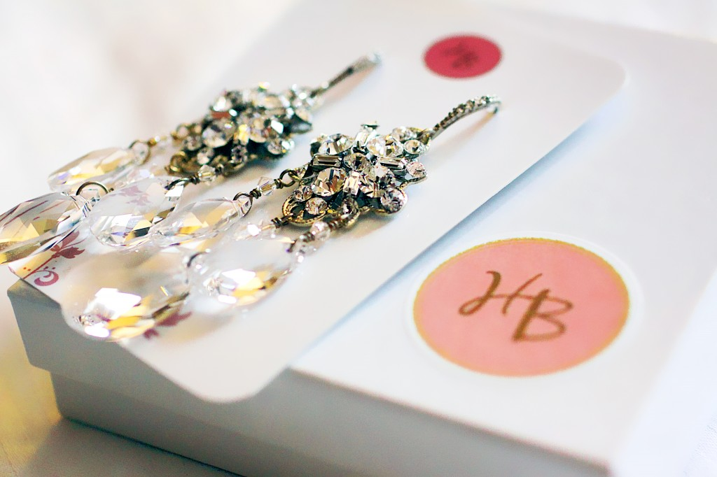 HB wedding day earrings