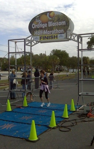 Mom in half marathon