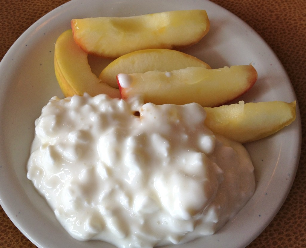 Jason's Deli Apples and Cottage Cheese