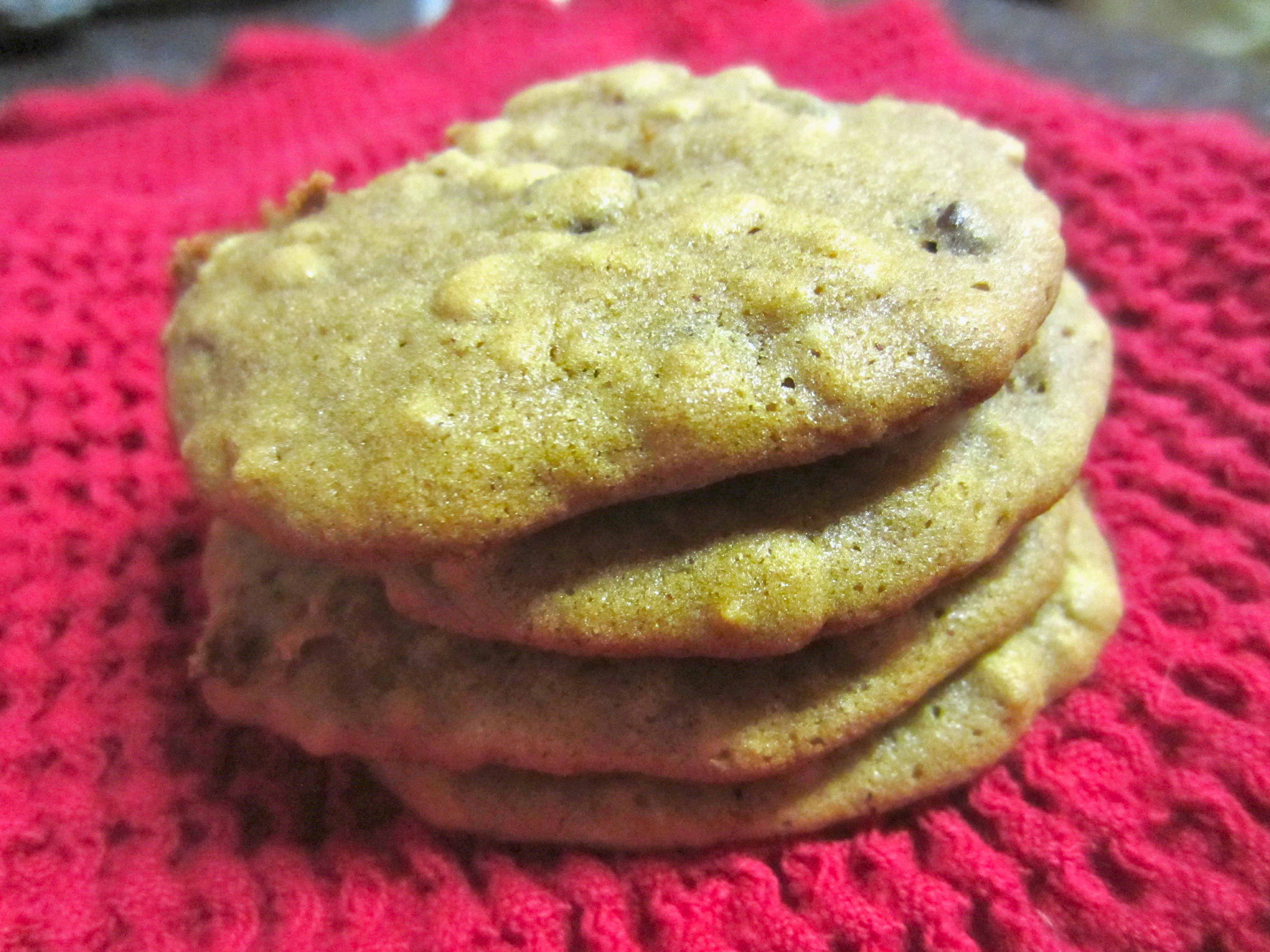 Sweet Potato Oatmeal Raisin Cookies