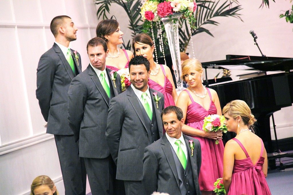 Bridesmaids and Groomsmen enjoying family moment