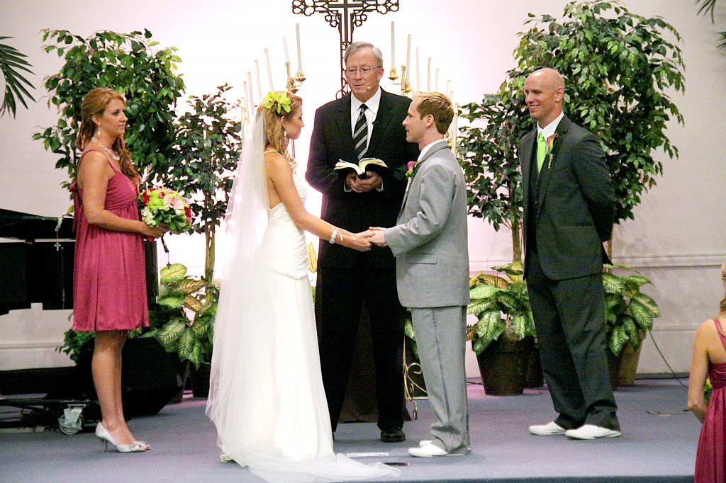 Standing at the altar