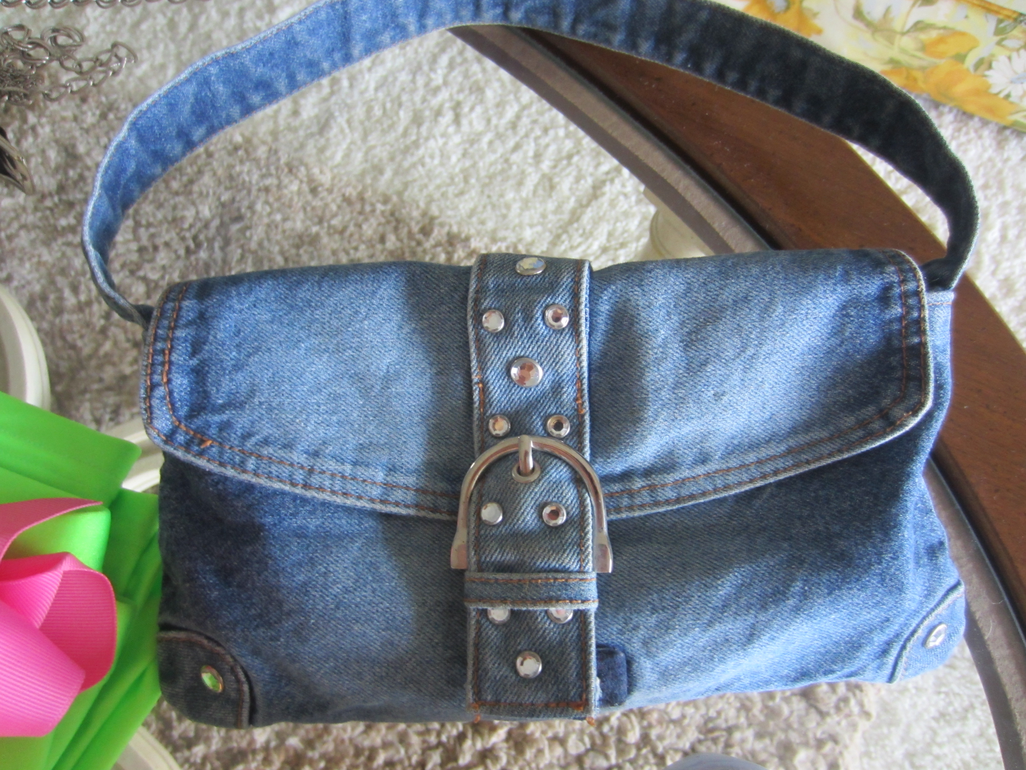 80s Denim purse from thrift store