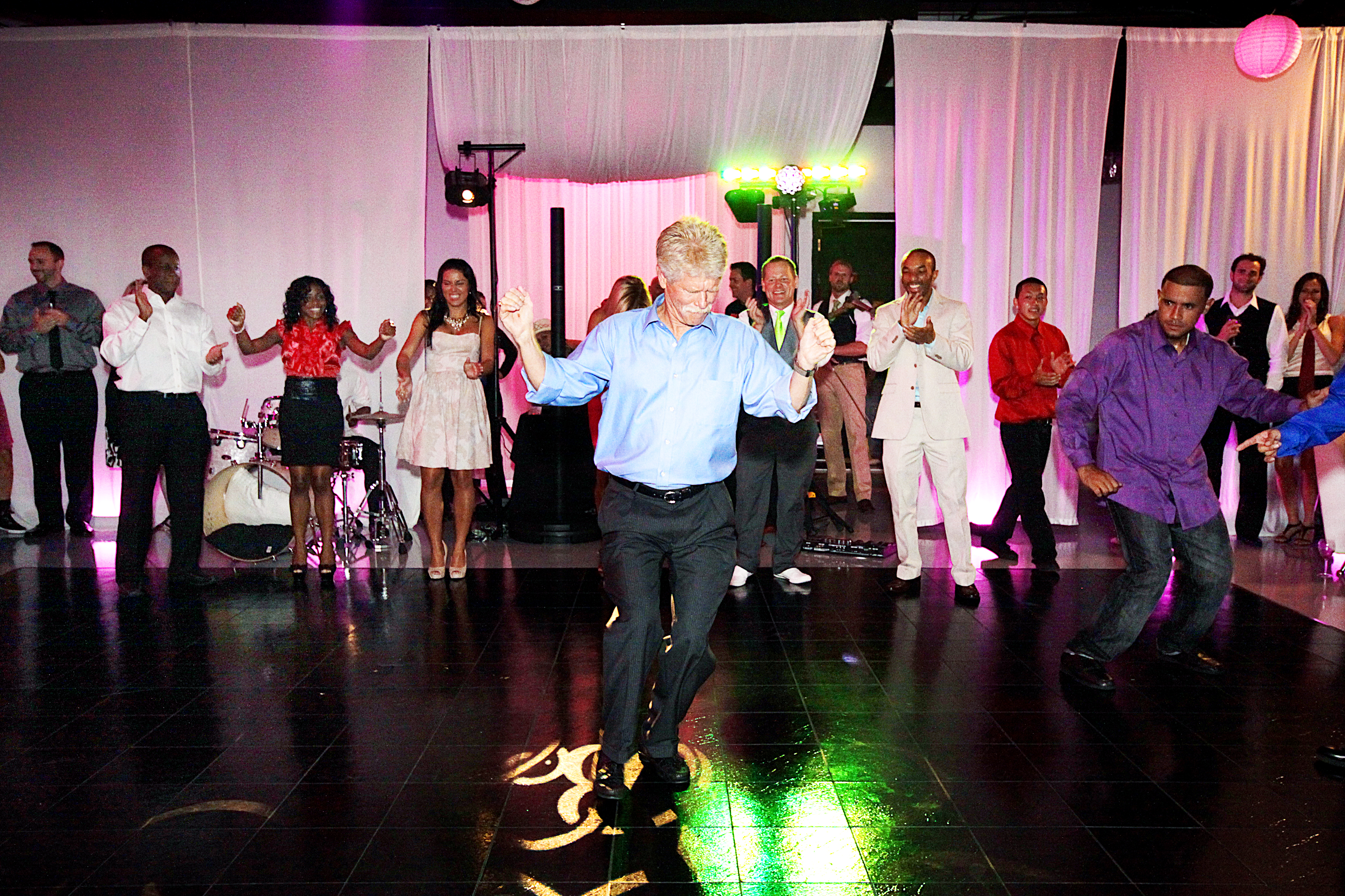 Father of the Groom dances at wedding