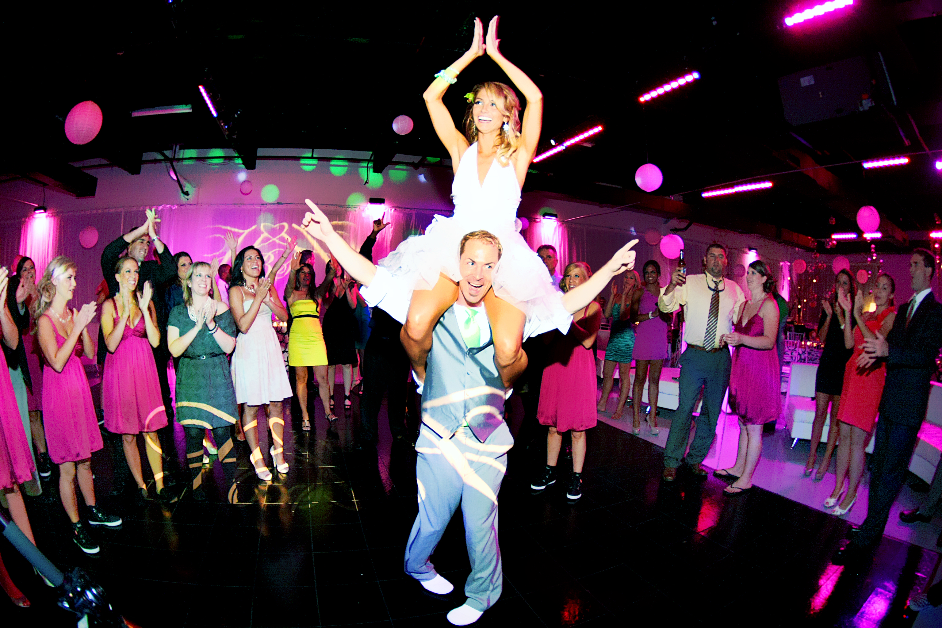 Bride and Groom dance at reception