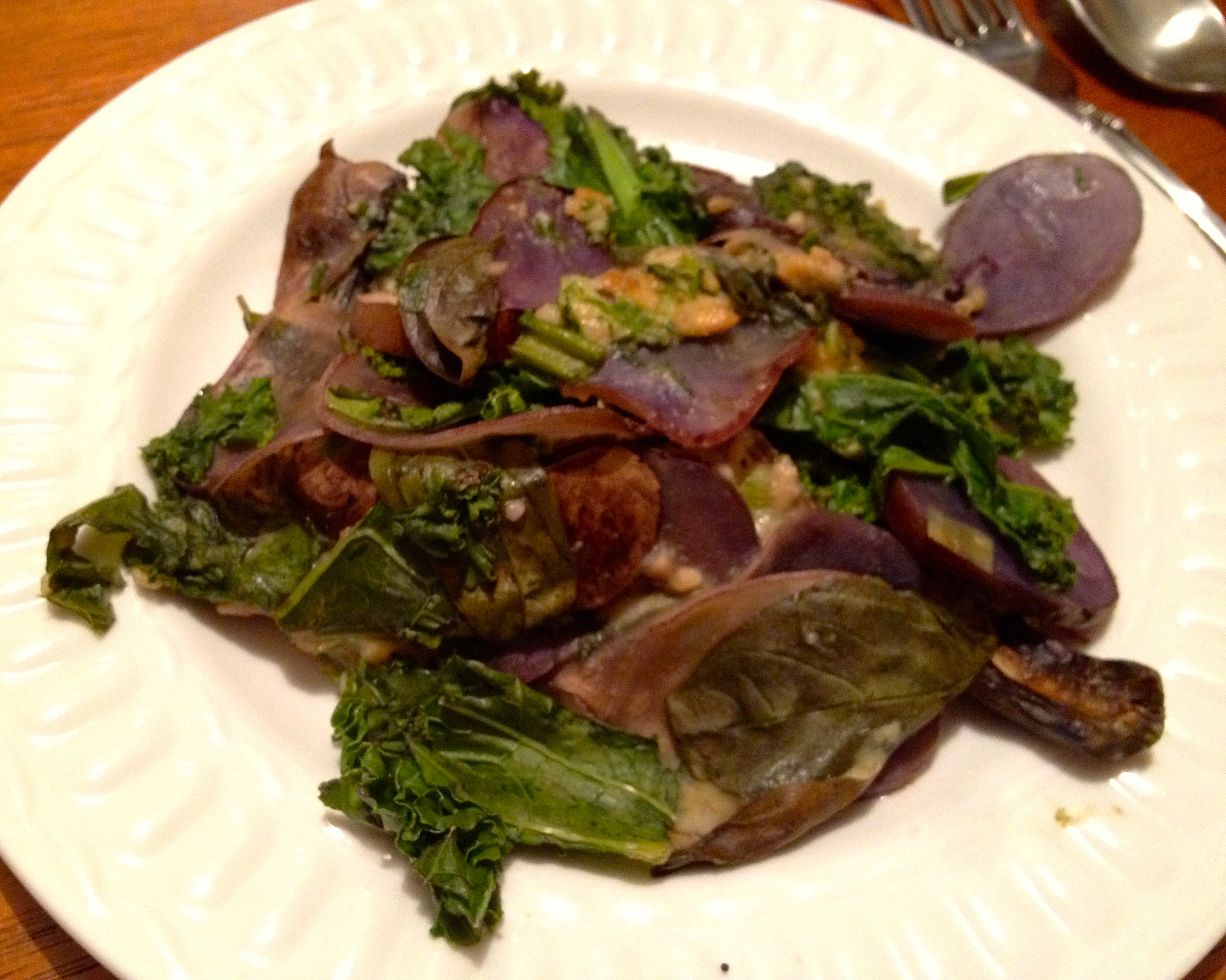 Kale and Purple Potatoes forks over knives