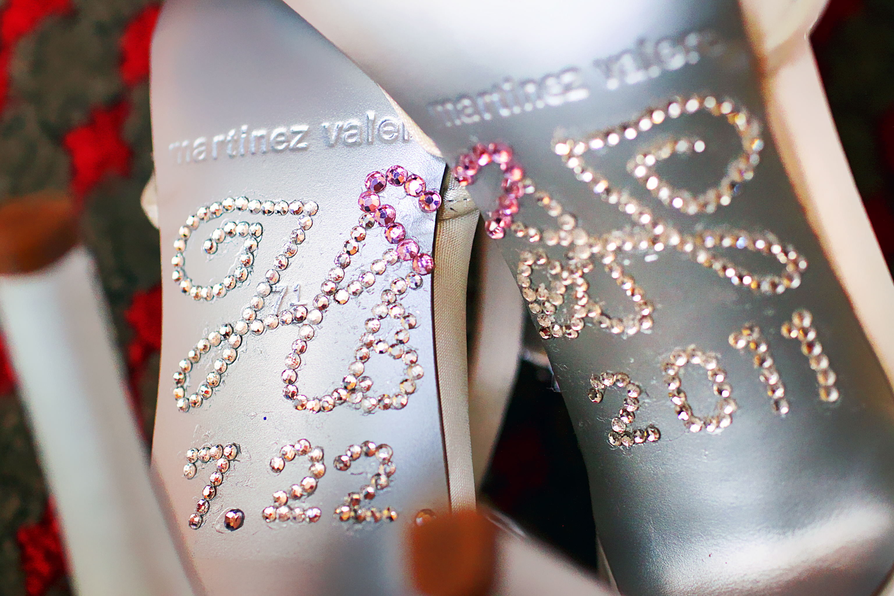 Wedding monogram on shoes