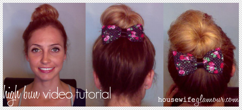 how to do a high bun hairstyle