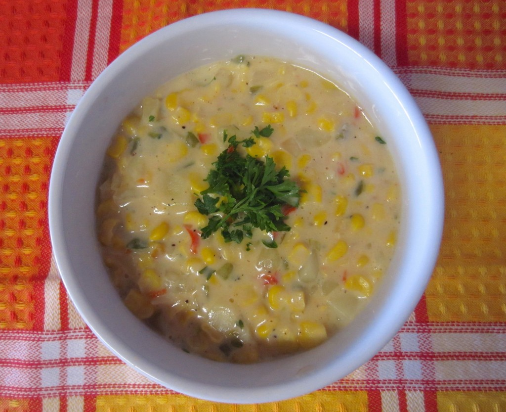 Corn Chowder with vegetables
