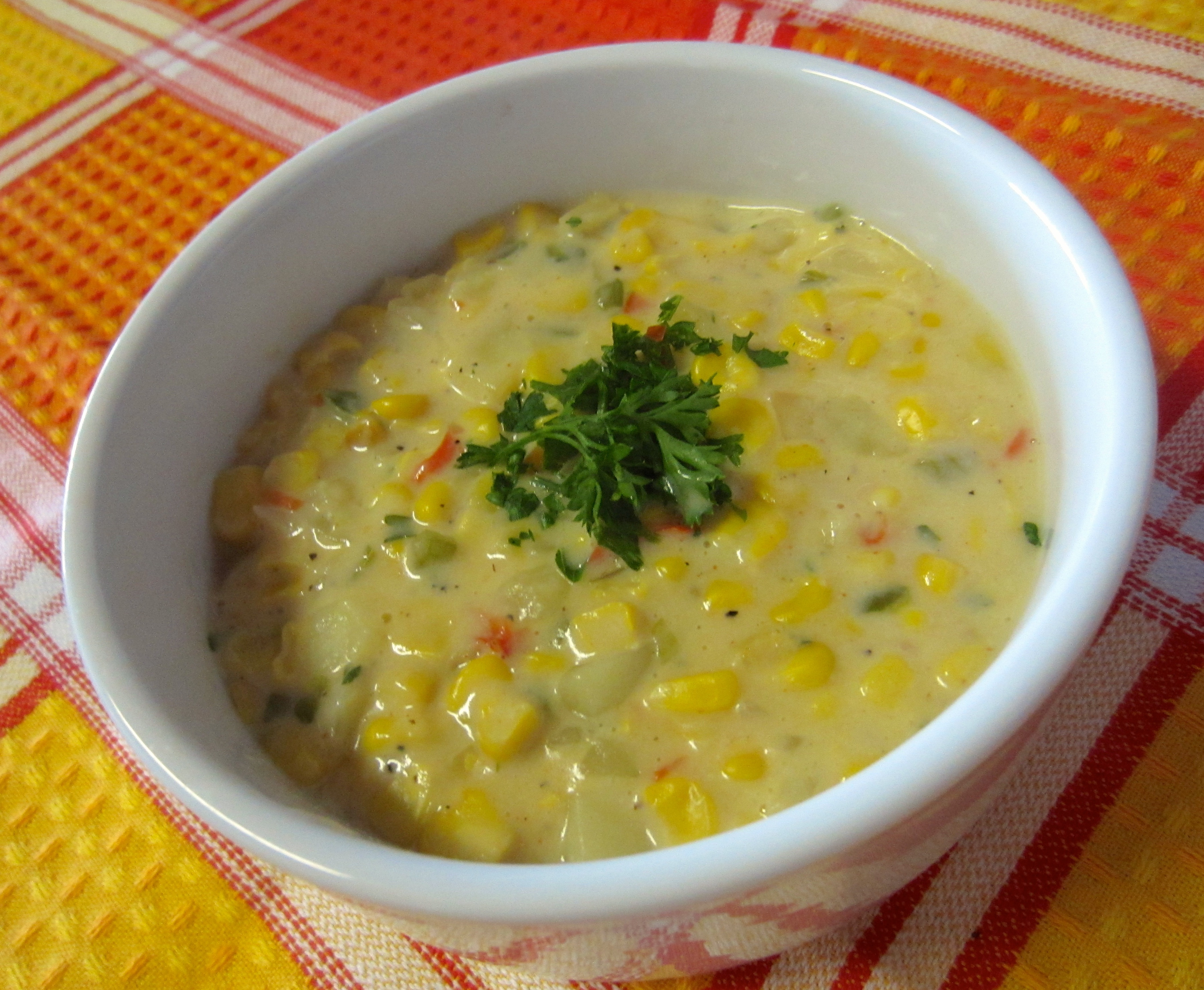 Heatlhy Vegetarian Corn Chowder