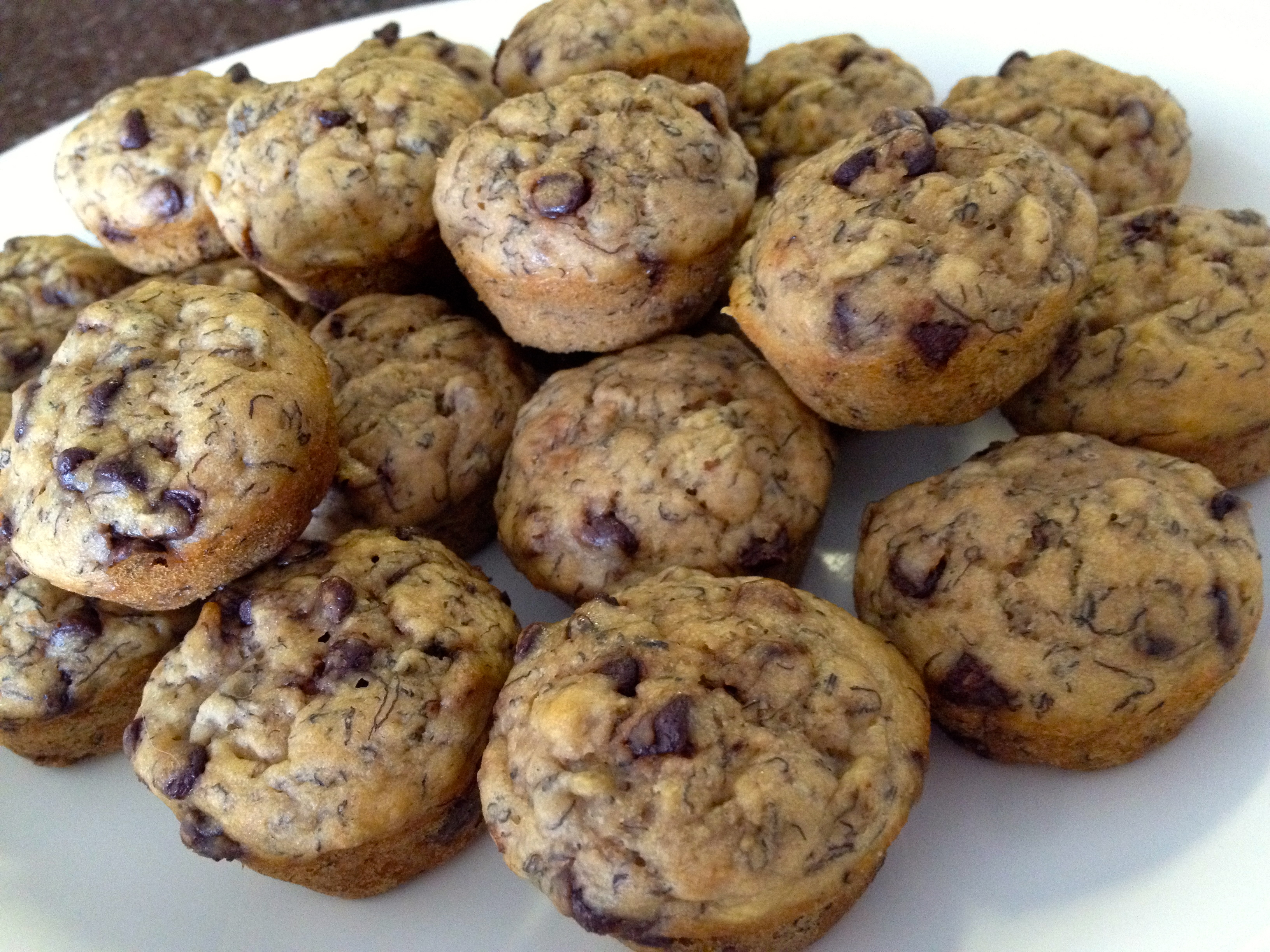 Chocolate Chip Banana mini muffins