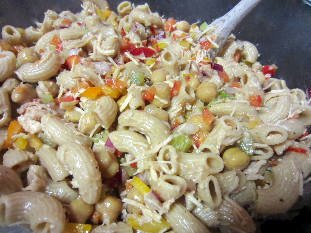 Healthy Chicken Salad with Whole Wheat Noodles