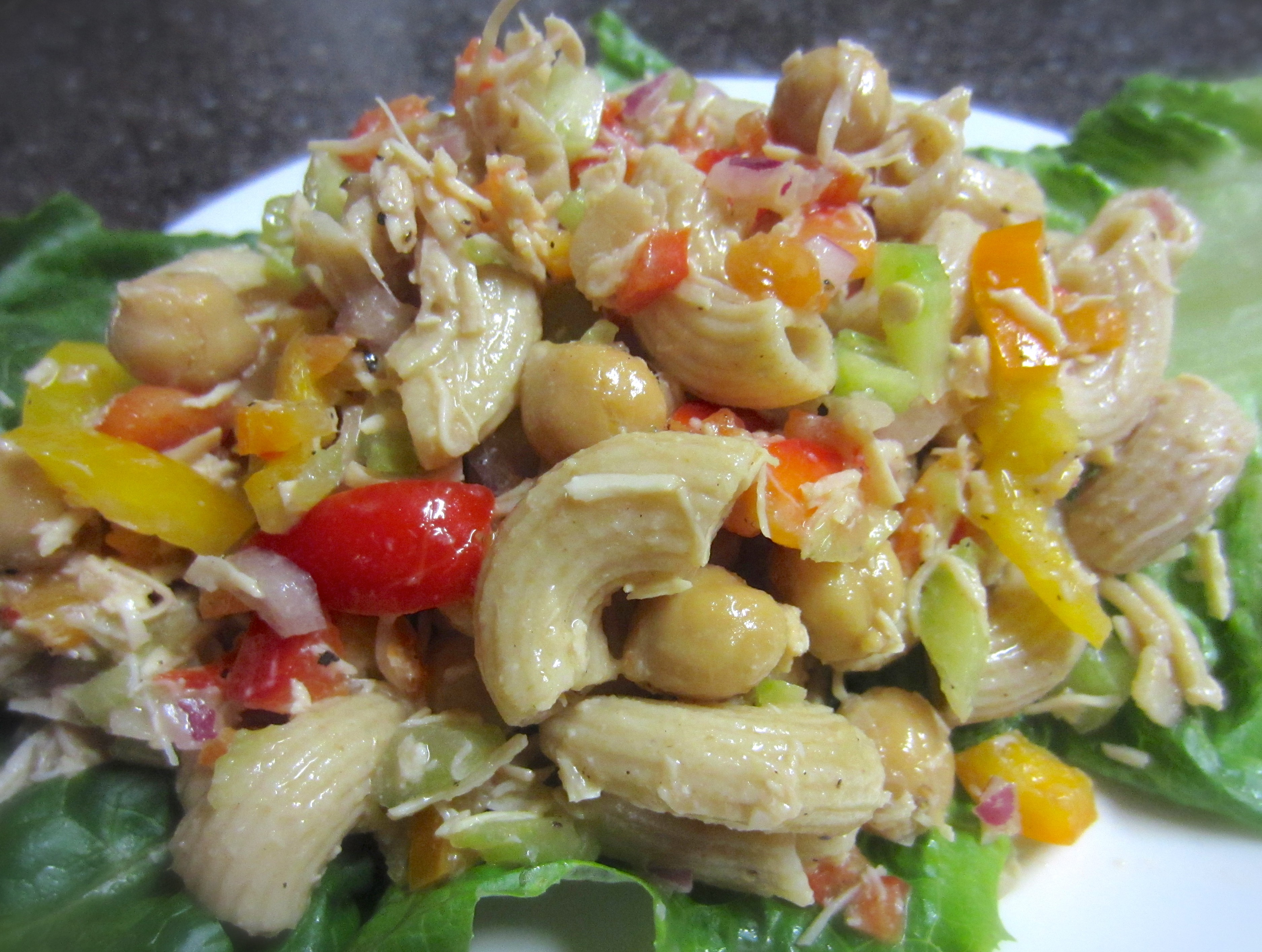 Healthy Chicken Macaroni Salad