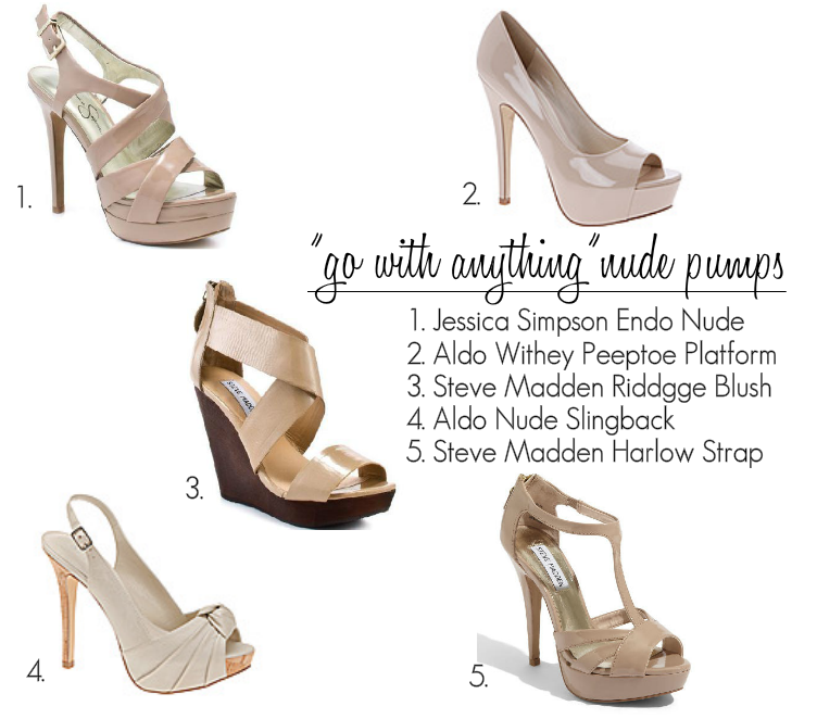 nude pumps and slingbacks