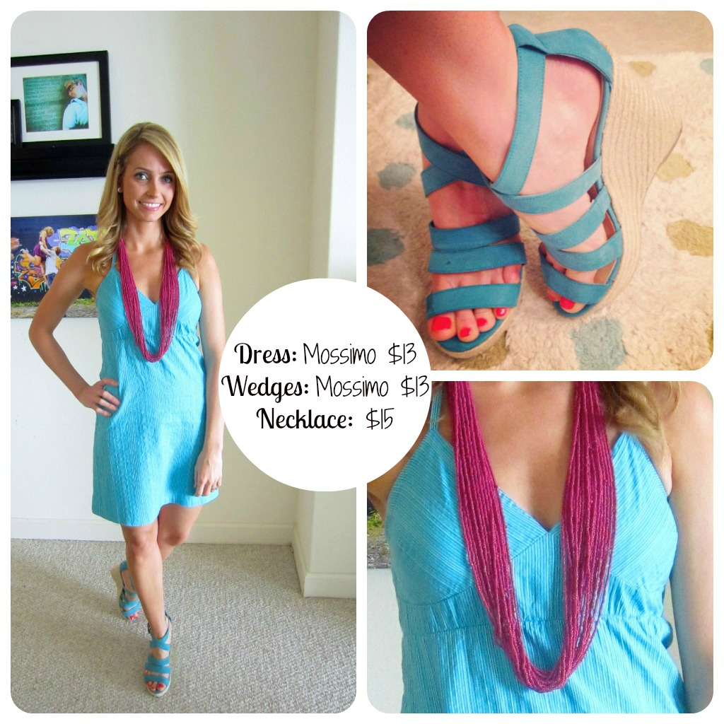 Blue Target Dress Fashion on a Budget