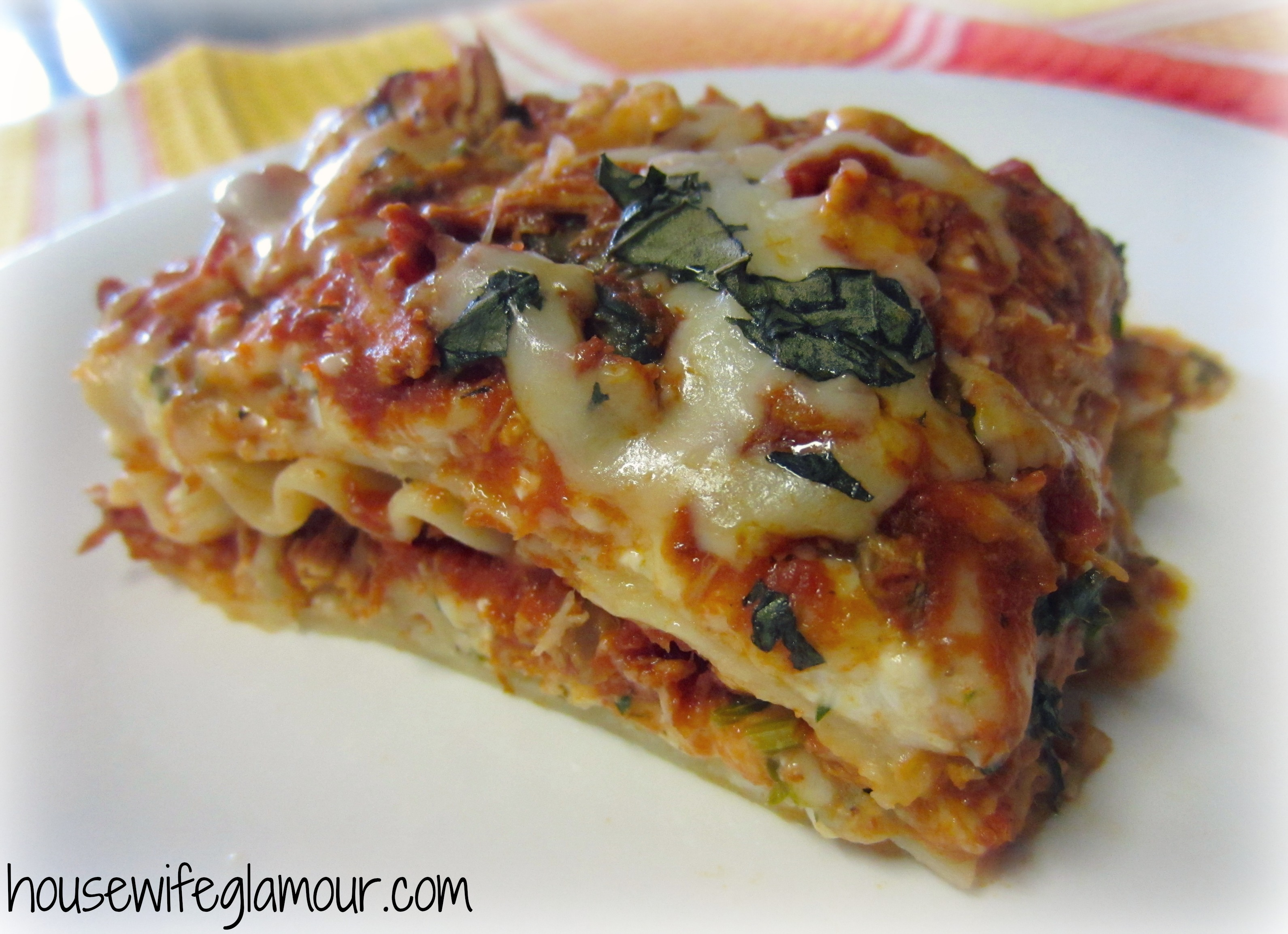 Lightened Up Chicken Lasagna