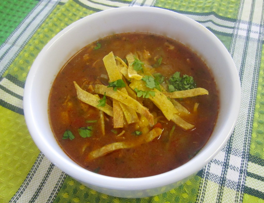 Slow Cooker Chicken Tortilla Soup | Life In Leggings