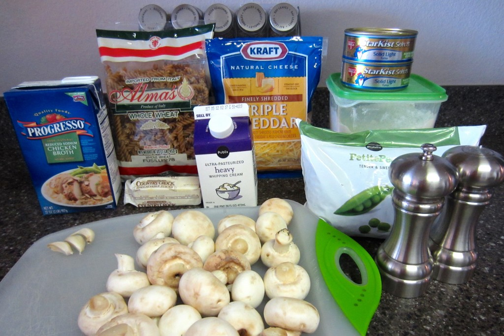 Healthy Tuna Casserole Ingredients