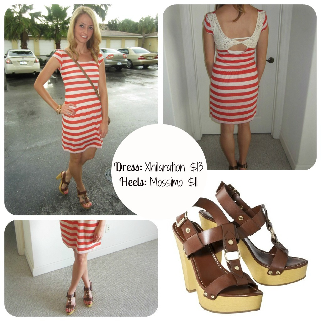 Target Striped Dress Fashion on a budget