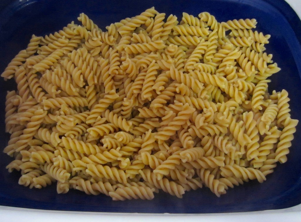 cooked whole wheat rotini