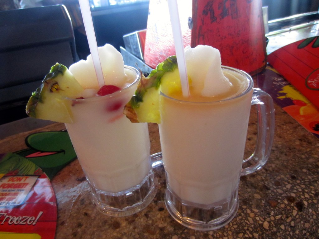 Pina Coladas at Senoir Frogs