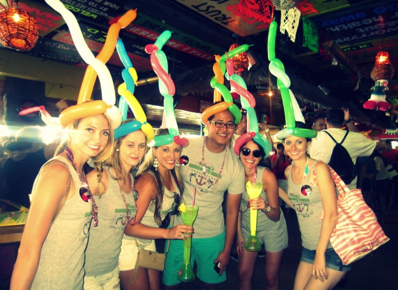 Senor Frogs celebration, Bahamas