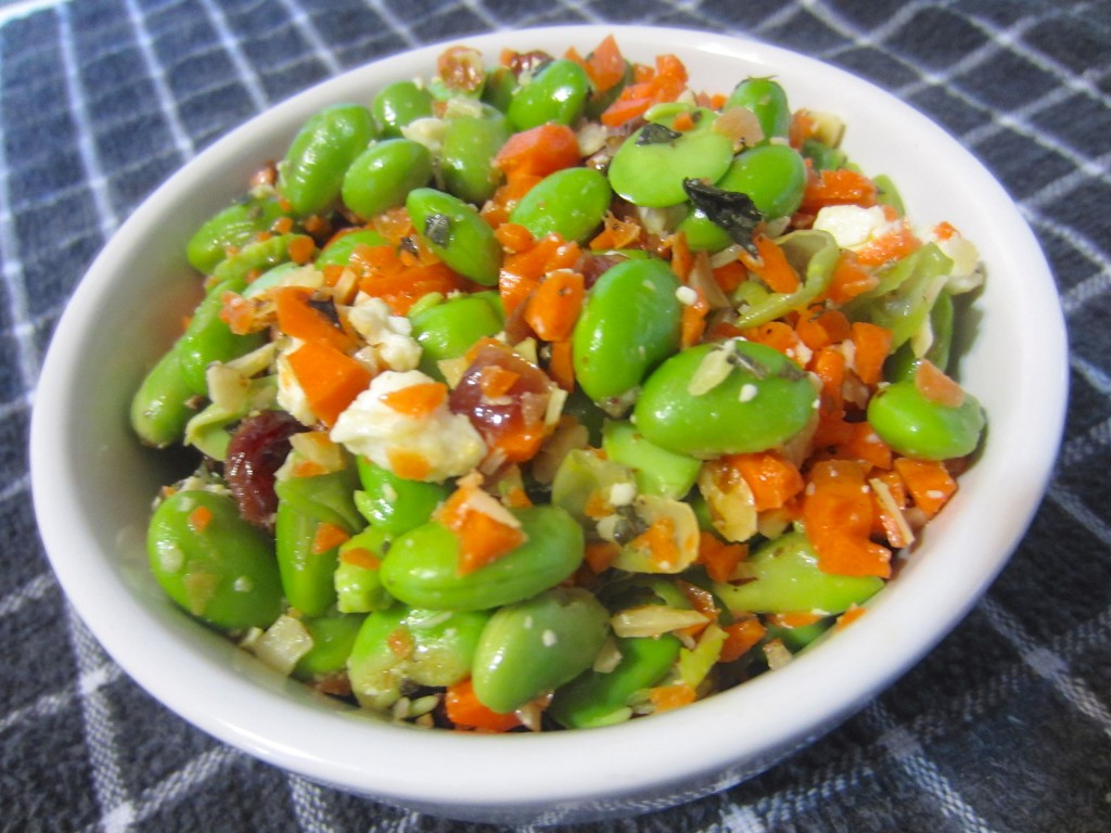Edamame and Cranberry with Feta Salad
