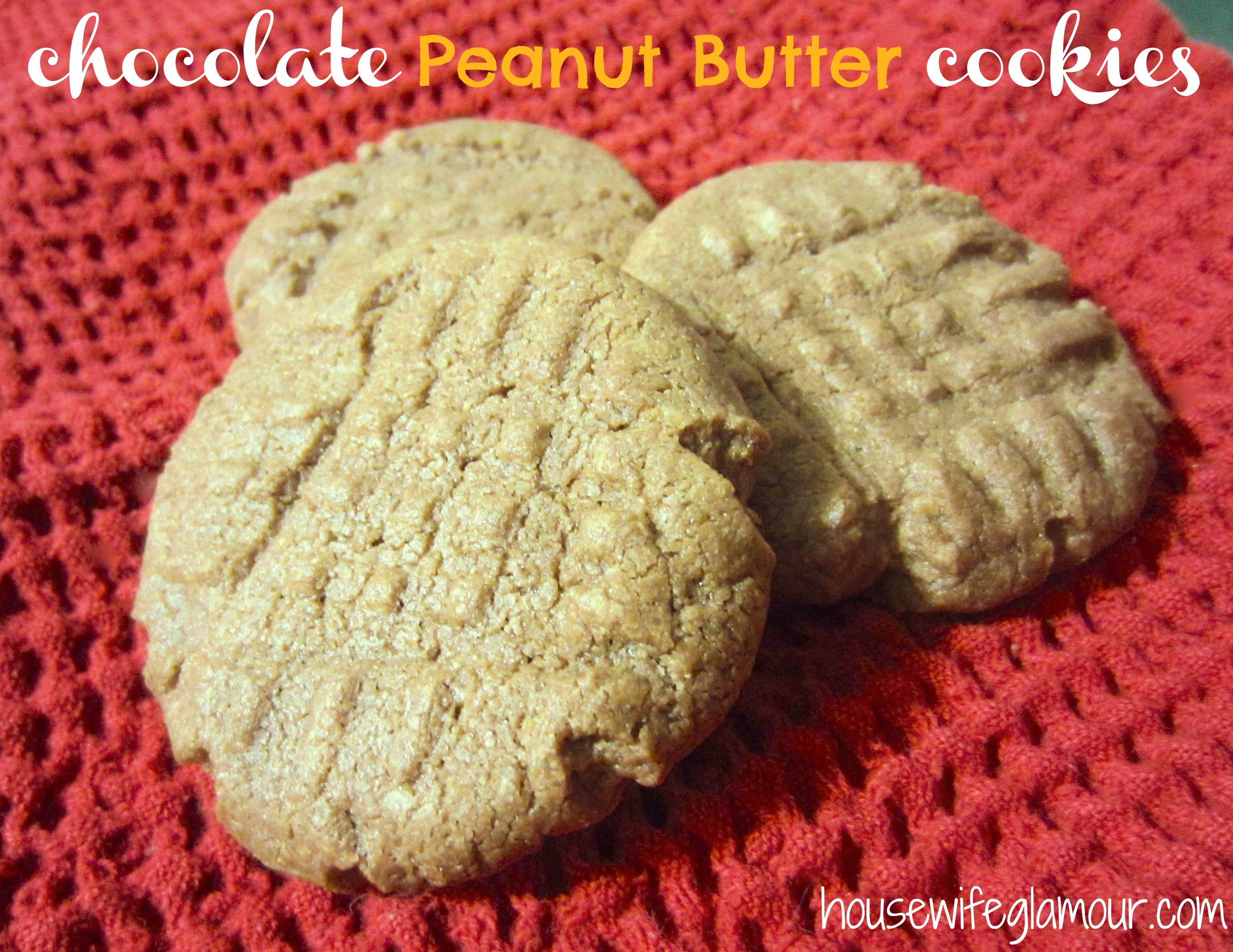 chocolate peanut butter cookies cover