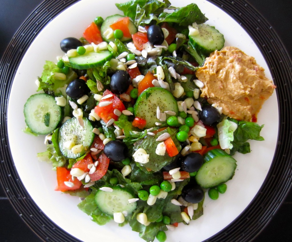 healthy salad with vegetables