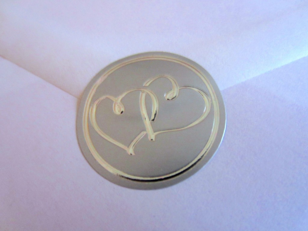 heart envelope seal