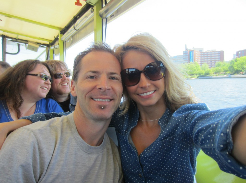 Duck Tour having fun