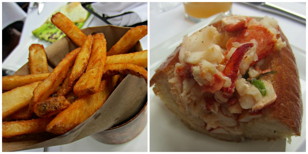 Lobster Roll and fries at Mare Oyster Bar Boston