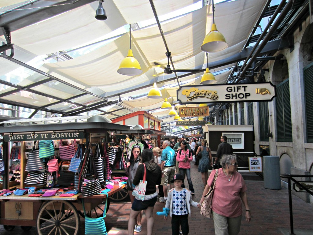 Quincy Market Boston inside
