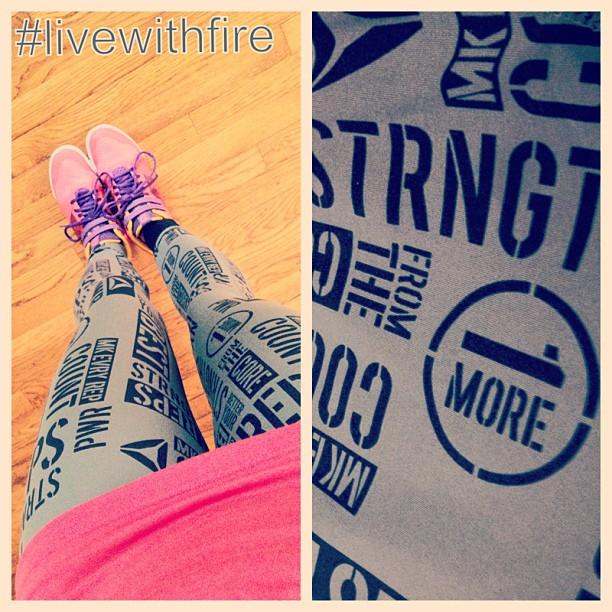 Reebok PWR leggings #livewithfire