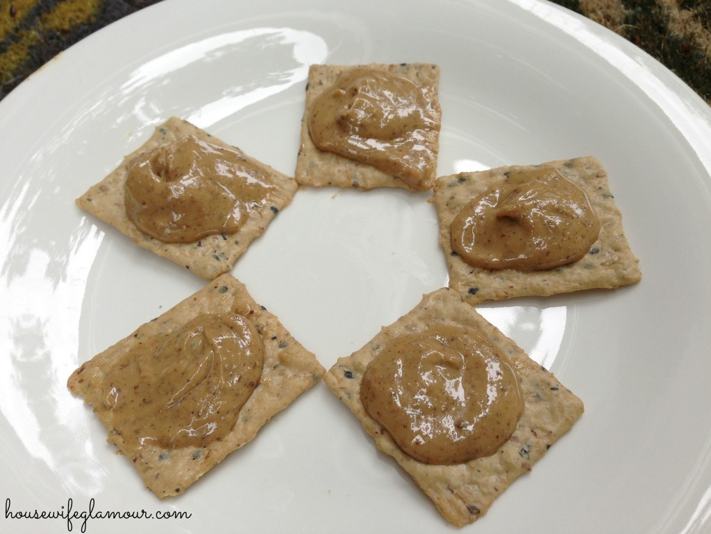 Eat Nuttzo nut butter on crackers