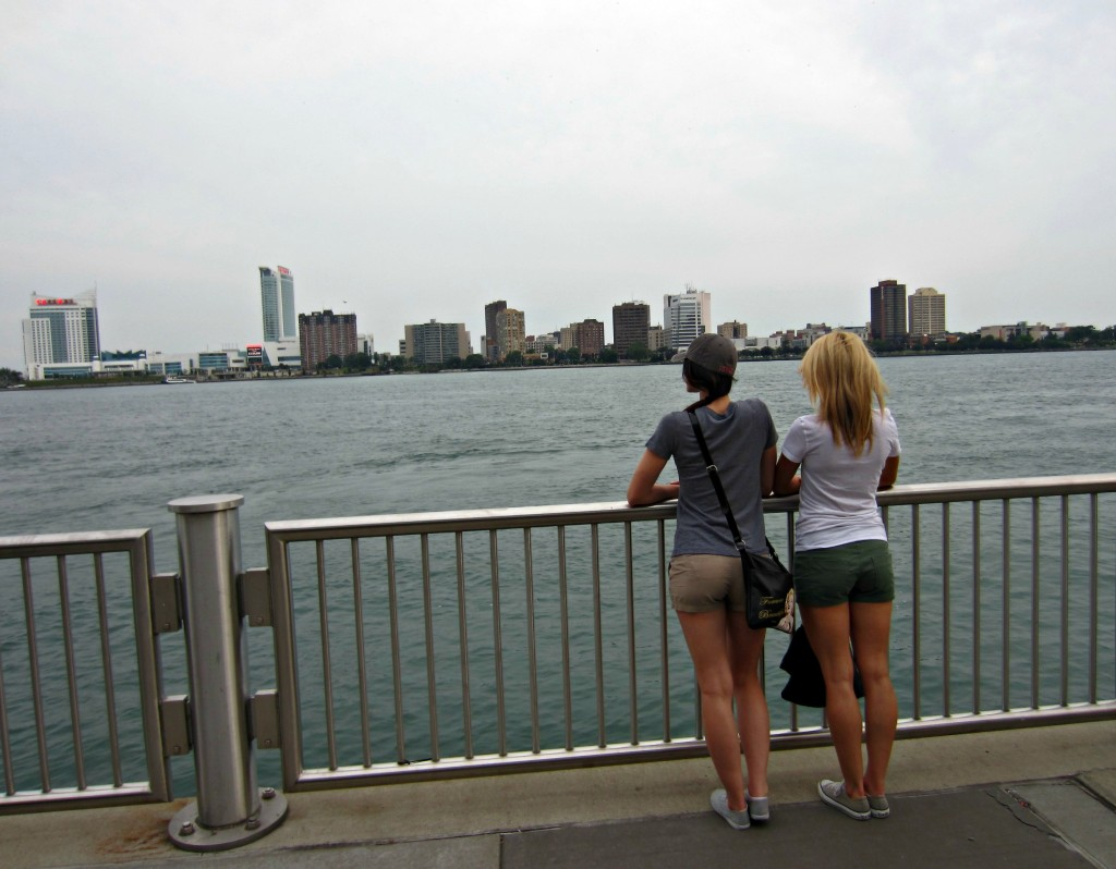 Looking at Windsor from Detroit