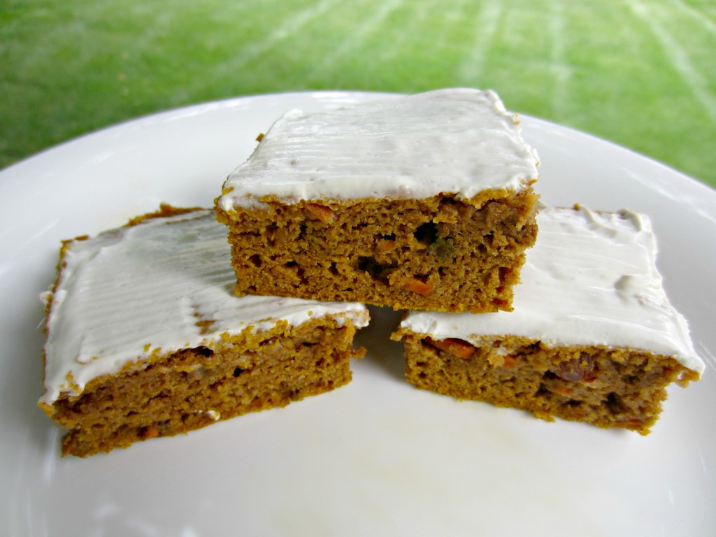 Carrot Pumpkin Bars stacked
