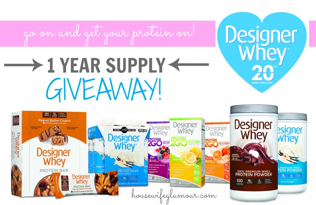 Designer Whey 1 Year Supply Giveaway