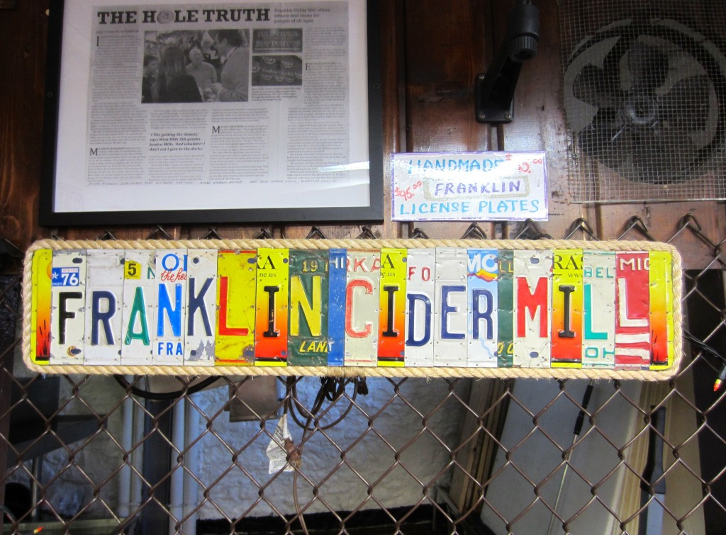Franklin Cider Mill licenses