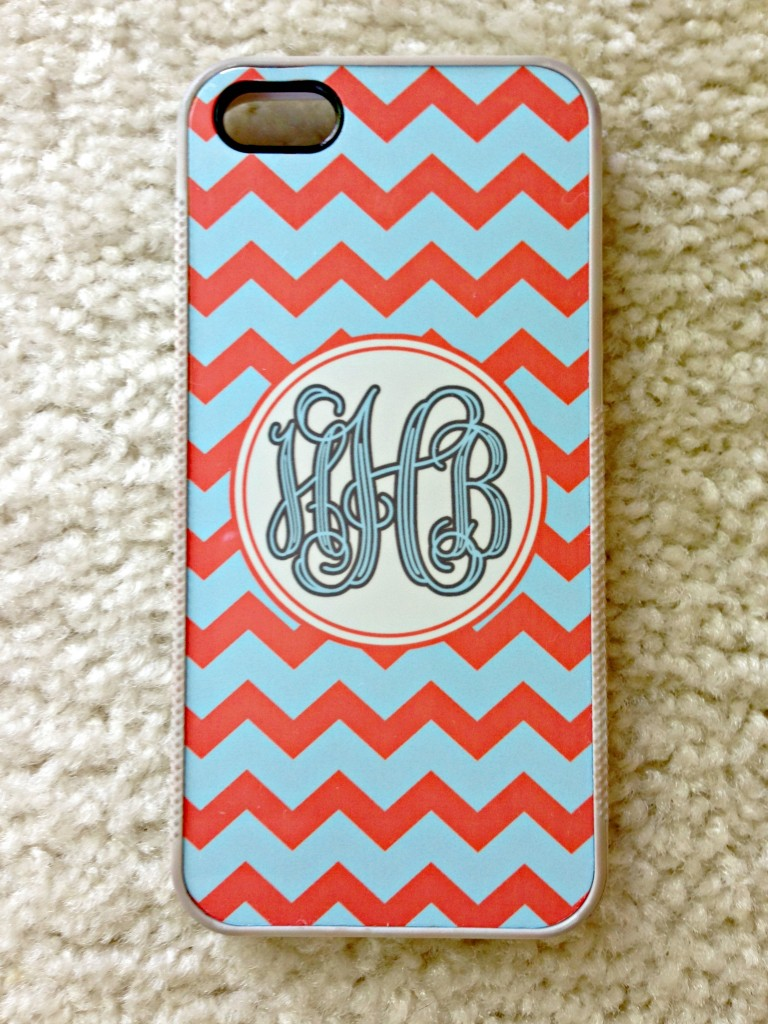 customized chevron initial iphone case