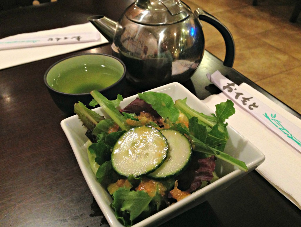 green tea and ginger salad