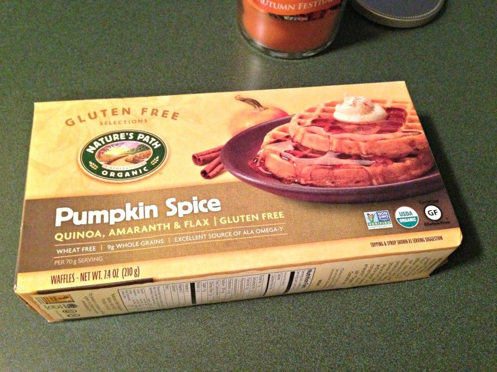 Nature's Path Pumpkin Spice waffles