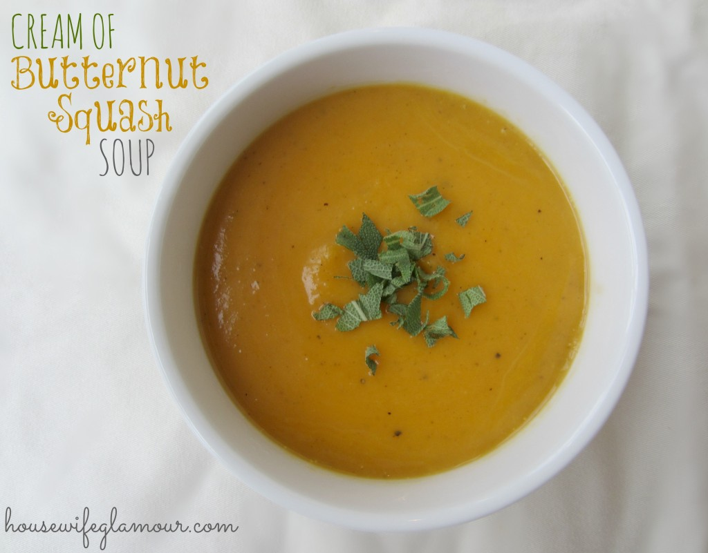 Cream of Butternut Squash Soup Recipe