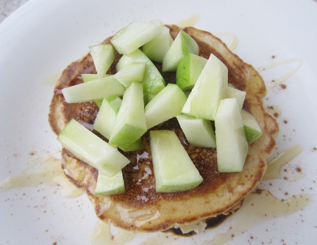 fiber one pancakes with apples and cinnamon
