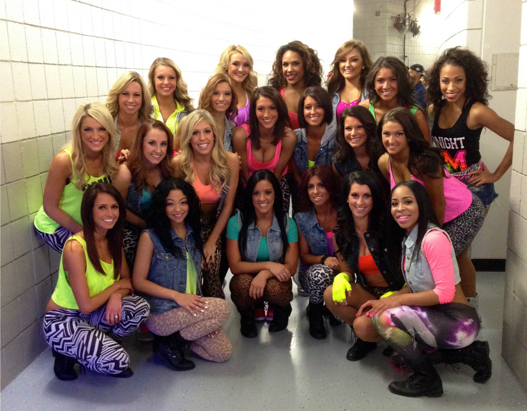 Pistons Dancers ready for Flo Rida Halftime