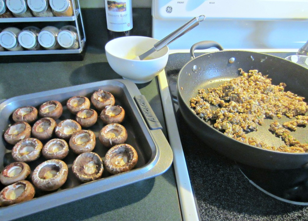 making stuffed mushrooms