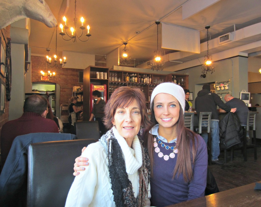 lunch with mom in canada